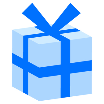 Present box (solid) blue