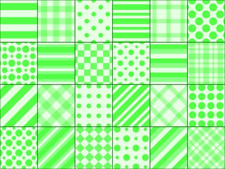 패치 워크 녹색