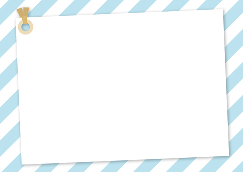 Memo tag ~ Naname striped light blue ver. ~
