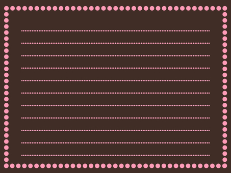 Simple memo card Ichigo chocolate
