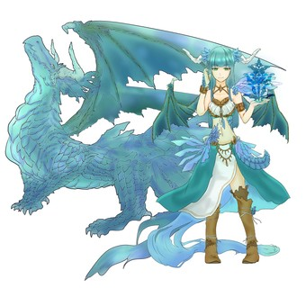 Dragon anthropomorphic blue