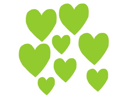 Lots of heart yellow green