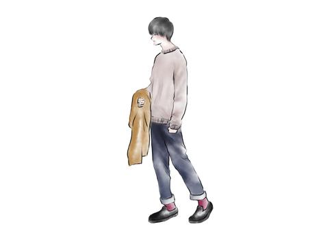 Men's fashion coat sweater