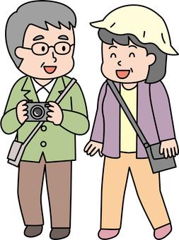 中高年 夫婦で旅行