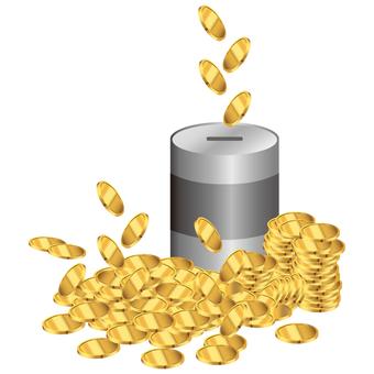 Crazy coin savings box