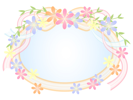 Flower and ribbon frame 2