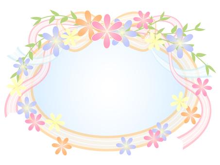 꽃과 리본 프레임 2