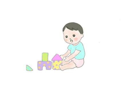 적목 놀이 아기