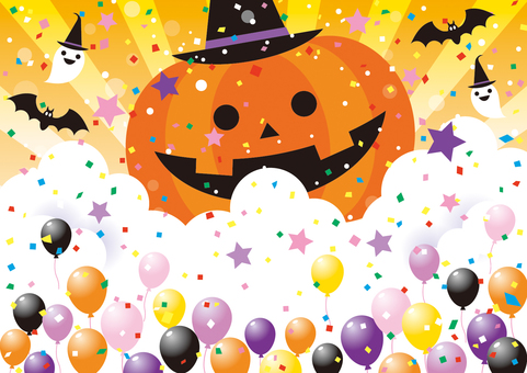Halloween big pumpkin background 01
