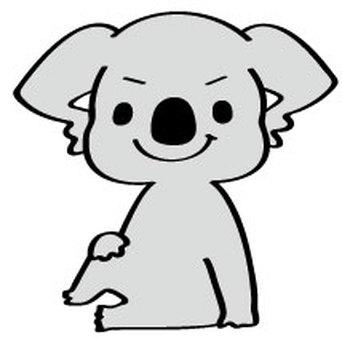 Koala who decides to pose