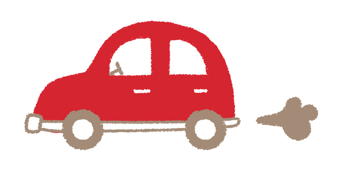 Hand-drawn car _ Red