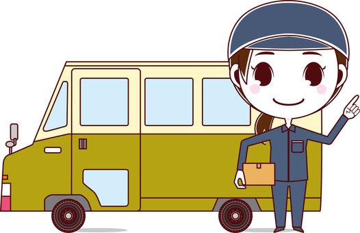 Deliveryman & Wagon_Female 01