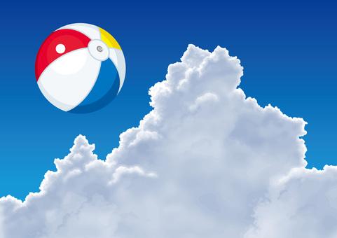 Tidal cloud summer beach ball