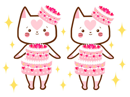 Matching dress cat