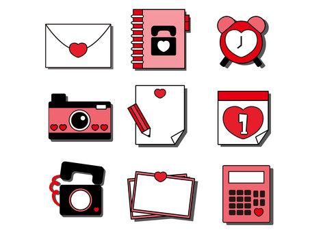 Heart motif icon