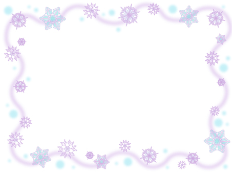 Snow crystal frame 2