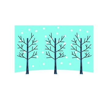 Winter tree icon 2
