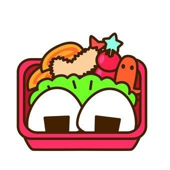 Onigiri lunch box (red lunch box)