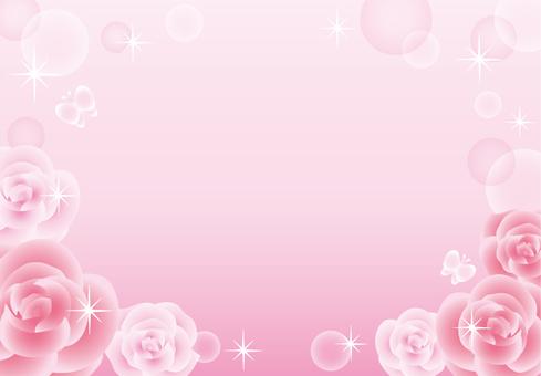 Rose sparkling frame (pink)