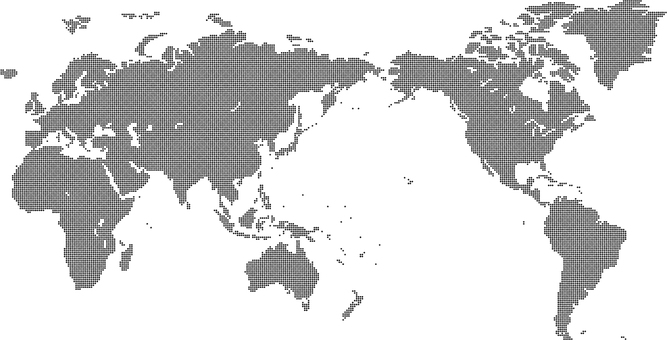 Dot world map 2a