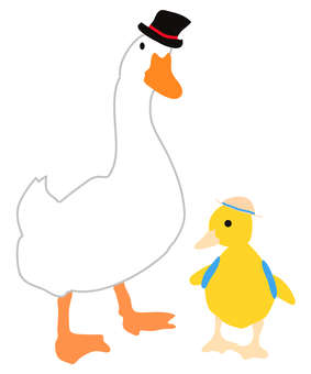 Duck parent and child (dad and child)