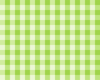 Gingham check - yellowish green