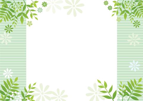 Leaf and flower green frame