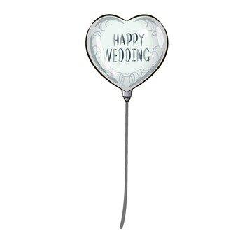Wedding celebration balloons