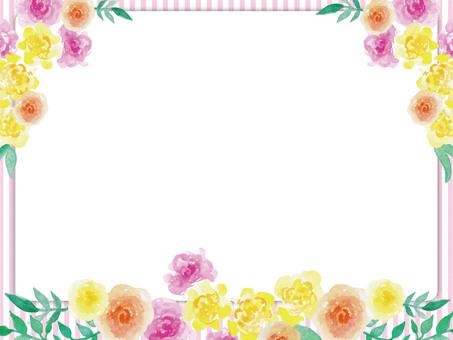 손으로 그린 바람 수채화 꽃 카드 (ai 데이터 유)