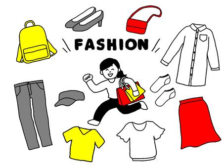 Ladies' fashion set (simple)