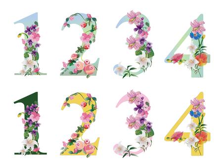Flower letter number 1-4