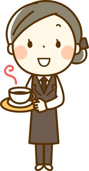 咖啡师的妇女
