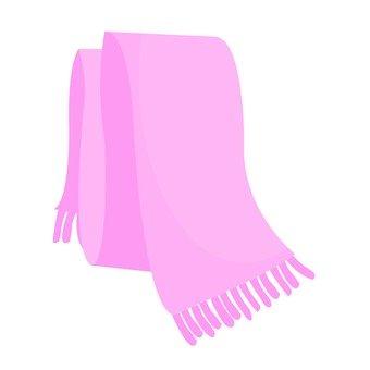 Muffler pink