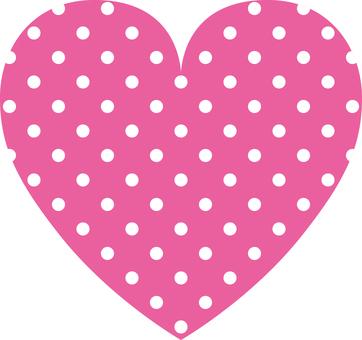 Heart _ polka dots _ pink