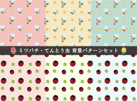 Bees and ladybugs wallpaper
