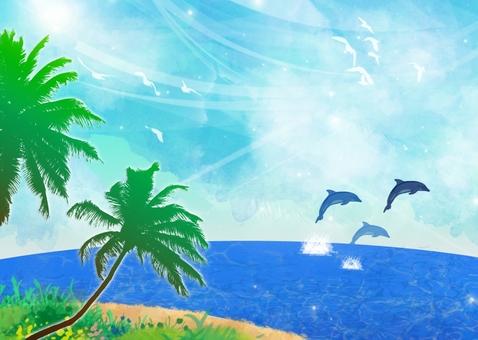 바다와 야자수