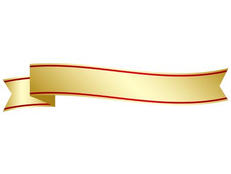 Golden ribbon frame
