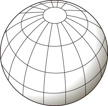 球体_緯度経度