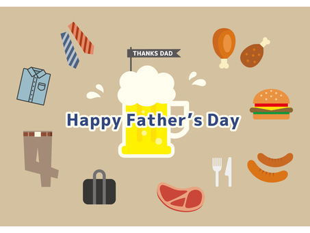 Flat icon for Father's Day