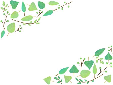 新緑のイラストフレーム
