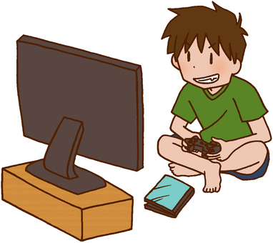 Boys playing games