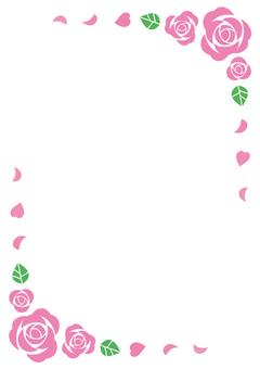 粉紅色的玫瑰框架(垂直)