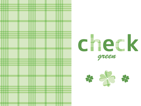 체크 무늬 (녹색)