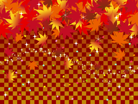 Japanese style autumn red background maple