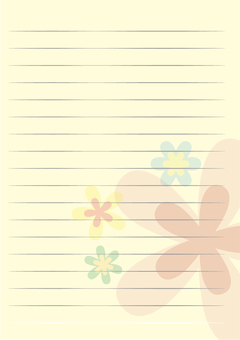 Letter Paper Vertical Yellow