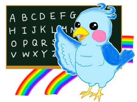 Blue parakeet · English