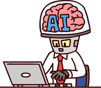 Illustration of AI office worker
