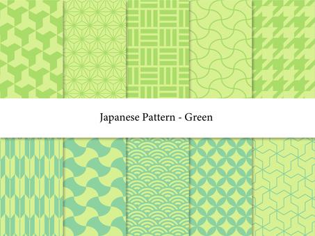 녹색 일본식 디자인