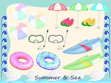 Summer and sea material _ 01