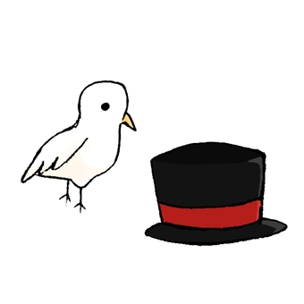 Pigeon and top hat